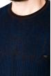 Джемпер мелкой вязки  520F012 темно-синий-синий