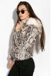 Куртка женская 120PLI9029 змеиный принт светлая пудра