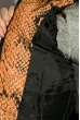 Куртка женская 120PLI9029 змеиный принт оранжевый