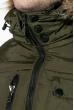Куртка мужская удлиненная 181V001 хаки