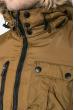 Куртка мужская удлиненная 181V001 темно-горчичный