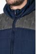 Жилетка спортивная, мужская 182V001 сине-серый