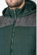 Жилетка спортивная, мужская 182V001 зелено-серый
