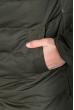 Куртка мужская с нашивкой и капюшоном 183V001 зеленый