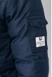 Куртка мужская с нашивкой и капюшоном 183V001 синий