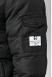 Куртка мужская с нашивкой и капюшоном 183V001 черный