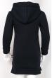 Платье на флисе 120PU006-3 junior темно-синий