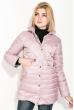 Куртка женская, удлиненная, стеганая  80PD1221 пудровый