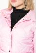 Куртка женская, удлиненная, стеганая  80PD1221 розовый