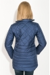 Куртка женская, удлиненная, стеганая  80PD1221 темно-синий
