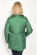 Куртка женская, удлиненная, стеганая  80PD1221 темно-зеленый