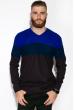 Свитер 520F006 темно-синий / бордо
