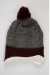 Комплект детский (для мальчика) шапка, шарф и перчатки 120PTEM53119 junior серо-вишневый