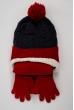 Комплект детский (для мальчика) шапка, шарф и перчатки 120PTEM53119 junior сине-красный