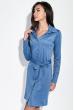 Платье-рубашка с поясом  95P4013 джинс