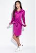 Платье-рубашка с поясом  95P4013 фуксия