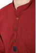 Рубашка мужская однотонная 511F005-4 бордо