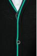 Кардиган мужской с контрастным ободком 50PD309 черно-зеленый