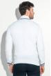 Кардиган мужской с контрастным ободком 50PD309 бело-сиреневый