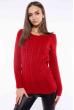 Свитер женский приталенный  610F008 красный