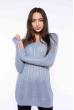 Свитер женский приталенный  610F008 голубой / серый