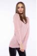Свитер женский приталенный  610F008 бледно-розовый