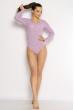 Боди женское с длинным рукавом 630F001 сиреневый