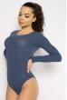 Боди женское с длинным рукавом 630F001 джинс