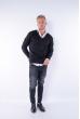Пуловер 645F003 черный