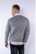 Пуловер 645F003 серый