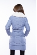 Куртка женская с шалевым воротником 120PSKL5266 сизый