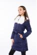 Куртка женская с шалевым воротником 120PSKL5266 темно-синий