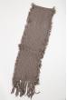 Вязаный женский шарф 120PROS005 серый