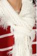 Вязаный женский шарф 120PROS005 молочный