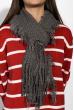 Вязаный женский шарф 120PROS005 темно-серый