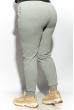 Брюки спортивные женские 85F10150-2 однотонные светло-серый