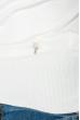 Гольф женский приятный к телу, с миниатюрным декором 280V001 молочный