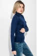 Гольф женский приятный к телу, с миниатюрным декором 280V001 темно-синий