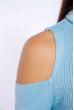 Гольф женский с открытыми плечами 605F003 светло-бирюзовый