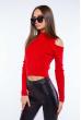 Гольф женский с открытыми плечами 605F003 красный