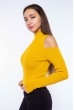 Гольф женский с открытыми плечами 605F003 желтый