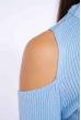 Гольф женский с открытыми плечами 605F003 небесный