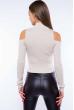 Гольф женский с открытыми плечами 605F003 светло-бежевый