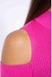 Гольф женский с открытыми плечами 605F003 ярко-розовый