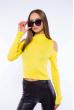 Гольф женский с открытыми плечами 605F003 лимонный
