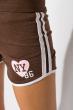 Шорты спортивные женские 317F043 с окантовкой коричневый