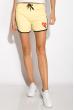 Шорты спортивные женские 317F043 с окантовкой желтый