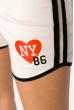 Шорты спортивные женские 317F043 с окантовкой песочный