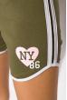 Шорты спортивные женские 317F043 с окантовкой хаки