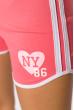 Шорты спортивные женские 317F043 с окантовкой розовый
